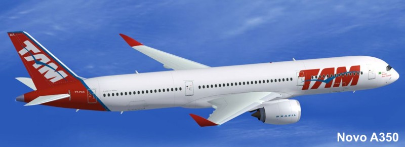 aeronave logotipo tam a350