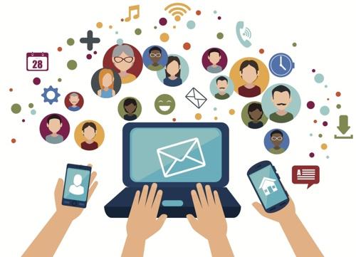 midia social compartilhar marca