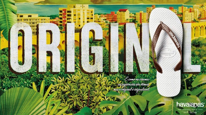 propaganda sandalias havaianas