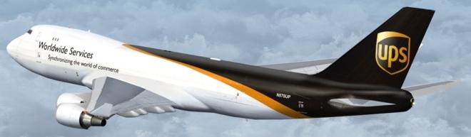 aviao marca ups logistica transportes
