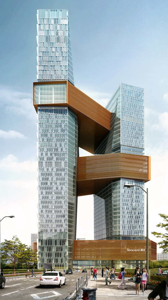 projeto nova sede edificio tencent