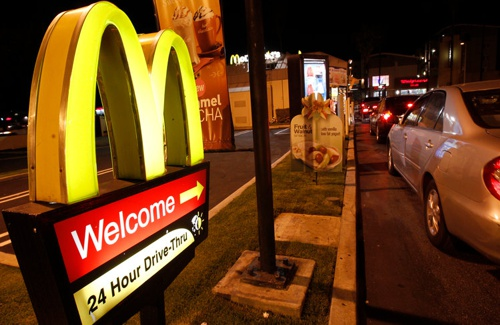 restaurante mcdonalds drive thru