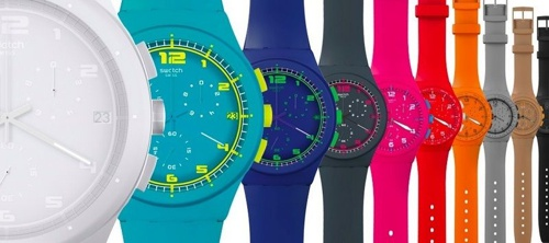 relogios coloridos swatch