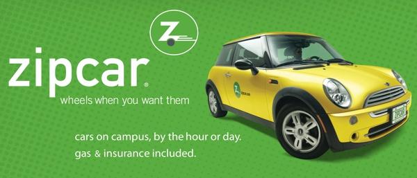 propaganda zipcar aluguel carro compartilhado